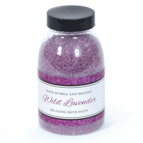 Wild Lavender Non-Foaming Bath Salts - Bath Bubble & Beyond 240g